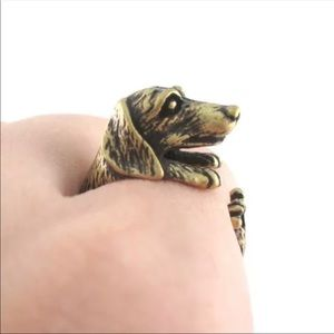 Dachshund ring gold